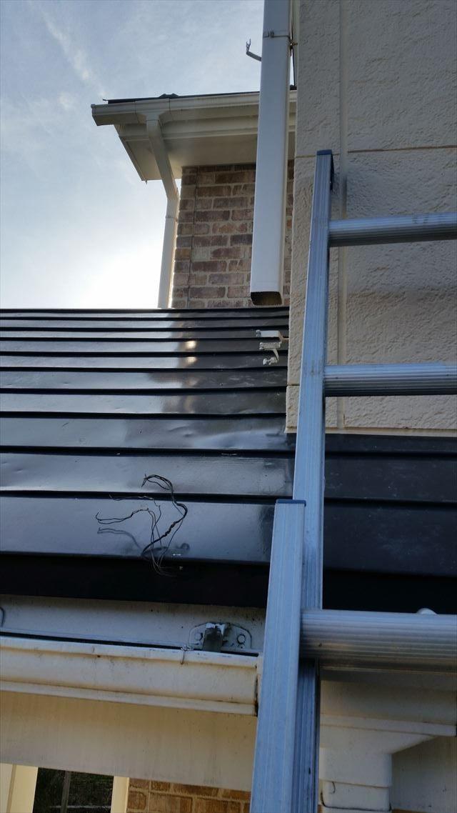 雨樋の破損箇所
