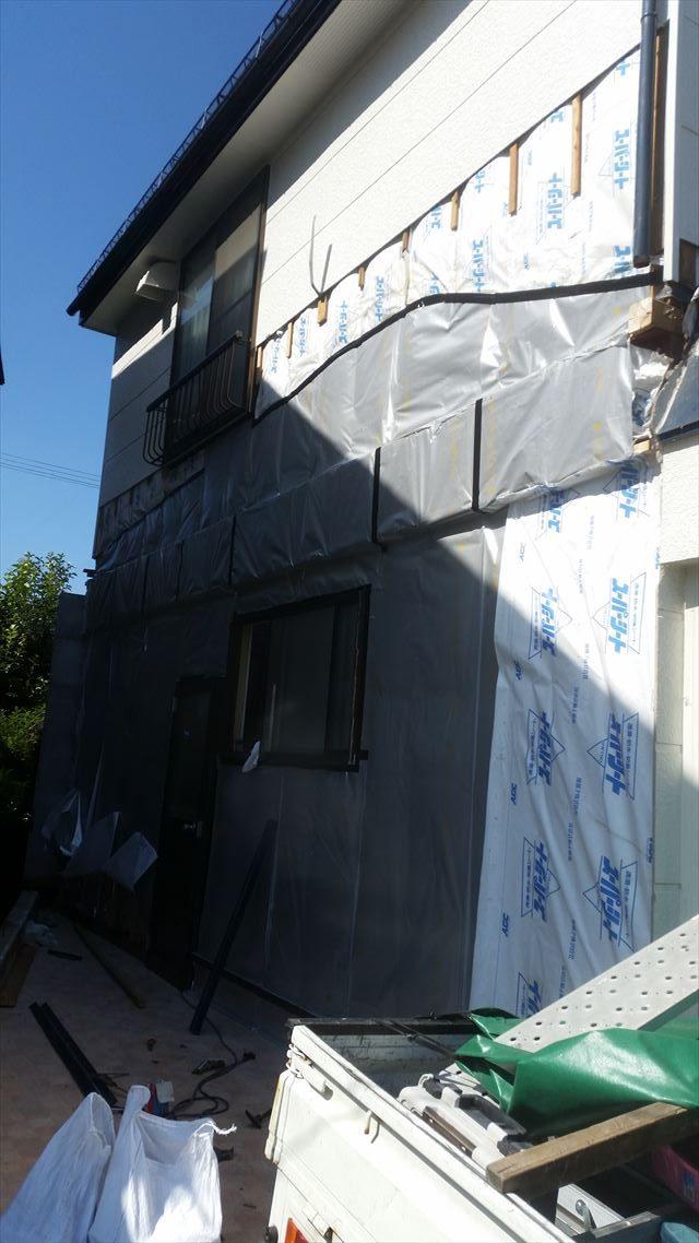 外壁張り施工前
