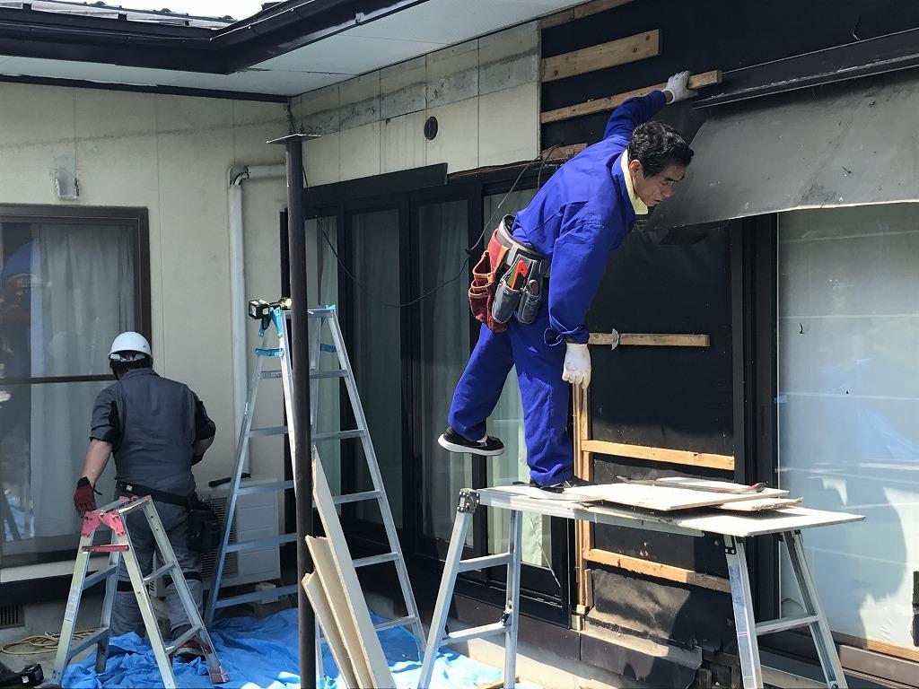 M様邸外壁解体