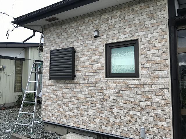 盛岡市ガルバリウム外壁材カバー工法
