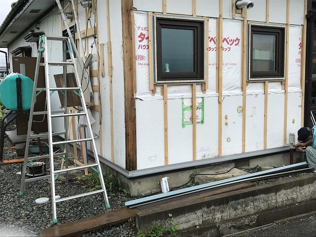 盛岡市にて外壁カバー工法にて外壁工事しました。
