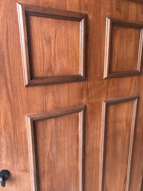滝沢市玄関ドア塗装